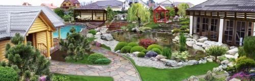 Зонирование огорода на участке. Зонирование участка: разработка плана, зонирование перепадом высоты и цветом. 140 фото-идей