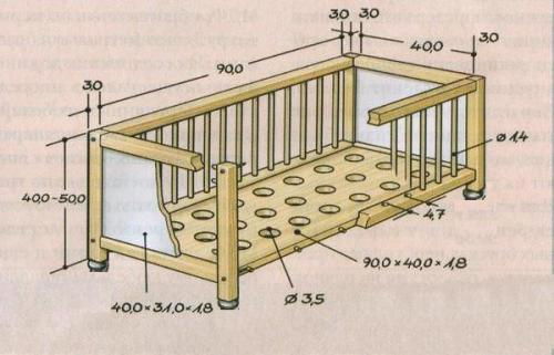 Изготовление кроваток детских. Детская кроватка своими руками: мастер-класс с чертежами и фото