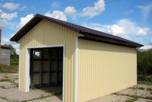 Отделка гаража профнастилом внутри. Как можно своими руками обшить гараж профлистом снаружи, пошаговая инструкция
