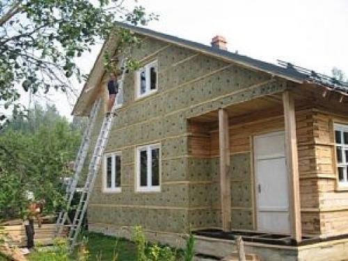 Утепление брусового дома снаружи минватой. Утепление фасада деревянного дома снаружи