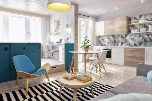 Дизайн однокомнатной квартиры в светлых тонах. Какие стилевые направления приемлемы?