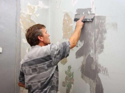 В ванной покрашенные стены. Подготовительные работы