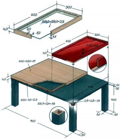 Журнальный столик размеры стандарт. Стандартные размеры журнальных столиков