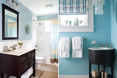 Чем красить стены в ванной комнате. Покраска стен