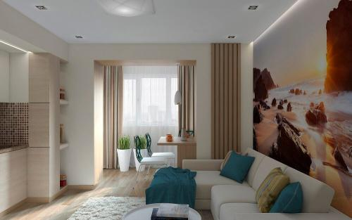 Интерьер комнаты однокомнатной квартиры. Советы по выбору дизайна однокомнатной квартиры