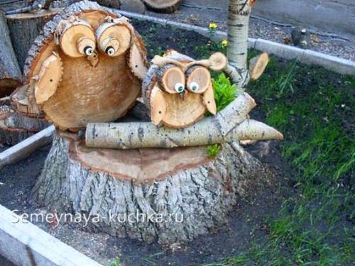 Поделки из дерева. из спилов бревна.