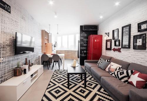 Дизайн гостиных комнат обычных квартир. Расположение мебели и бытовой техники