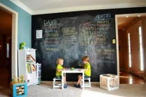 Меловая стена в детской. Меловая стена в интерьере