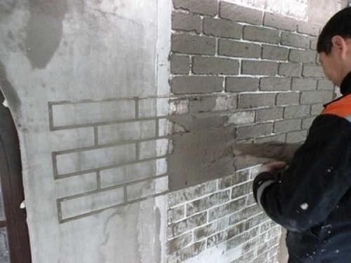 Стена под кирпич в квартире, как сделать. Как сделать имитацию кирпичной стены: краткий перечень способов
