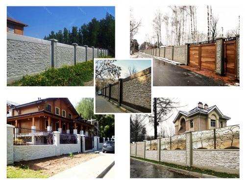 Чем отделать бетонный забор. Заборы из бетонных панелей: виды, плюсы, производители, этапы создания