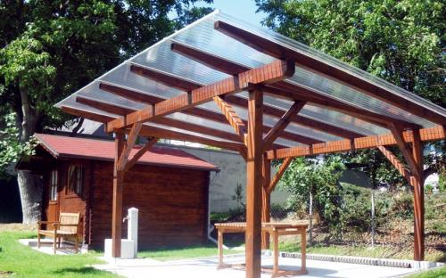 Крыша для беседки: самостоятельное сооружение четырехскатной конструкции