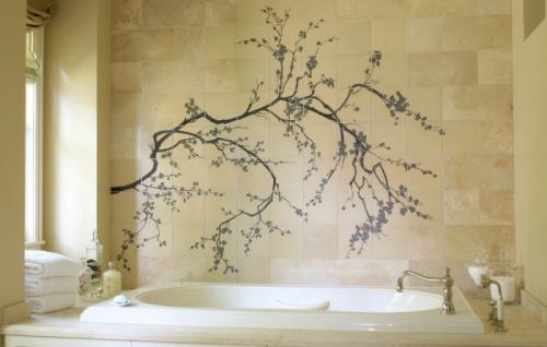 Рисунки своими руками на стенах в ванной комнате. Как сделать рисунки на стене в ванной комнате? Какие использовать краски? Какую выбрать основу?
