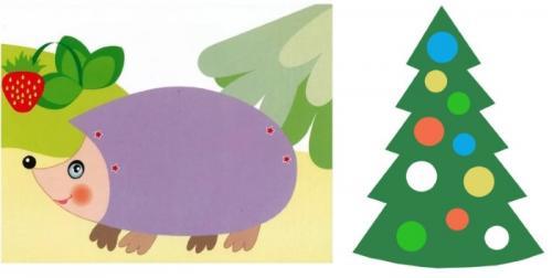 Поделки простые для детей. Аппликации из цветной бумаги для дошкольников