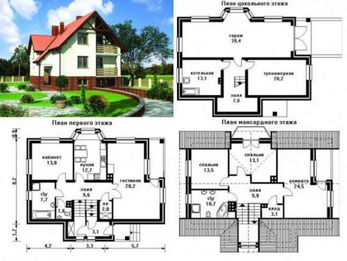 Проекты домов из кирпича 2 этажа. Проекты домов