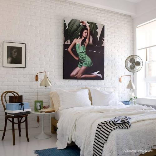Белые кирпичные стены в интерьере.  Чем привлекательна стена из белого кирпича?