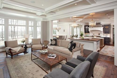 Интерьер гостиной кухни в частном доме. Кухня-столовая: правильное распределение пространства, оформление интерьера