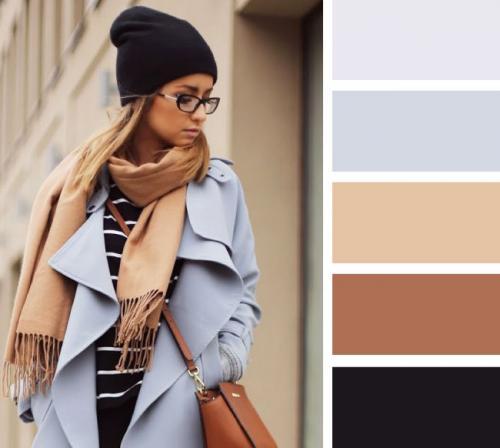 Сочетание серого и бежевого. Сочетание бежевого и серого в одежде
