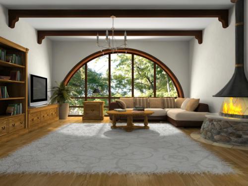 Красивые окна в деревянных домах картинки. Окна в современном интерьере