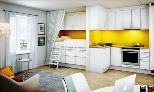 Интерьер зонирование однокомнатной квартиры. Варианты планировки однокомнатной квартиры для семьи из трех человек