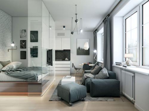 Варианты ремонта однокомнатной квартиры 40 кв м. Распространенные решения перепланировки квартиры 40 кв. м.