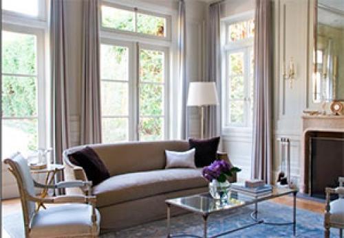 Французское окно шторы. В каком случае уместно французское окно