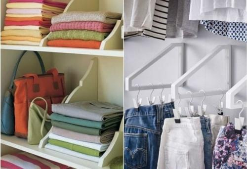 Хранение вещей в шкафу идеи своими руками. 22 Офигенных примера, как складывать вещи в шкафу