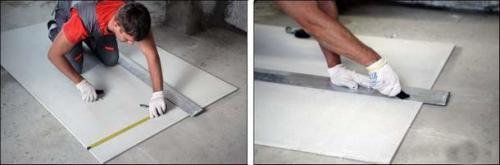 Чем резать кнауф суперпол. Чем пилить ГВЛ: как резать листы в домашних условиях
