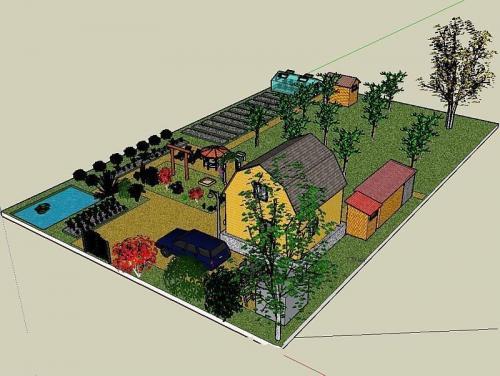 Дизайн участка загородного дома 15 соток своими руками. Что следует учитывать при планировании работ