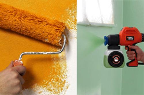 Чем лучше красить стены валиком или краскопультом