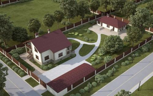 План садового участка 15 соток. Планировка участка загородного дома и разработка проекта